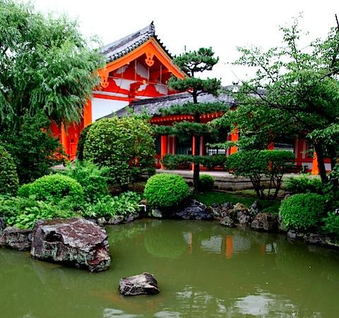 Pond at Sanjusangen-do Temple
