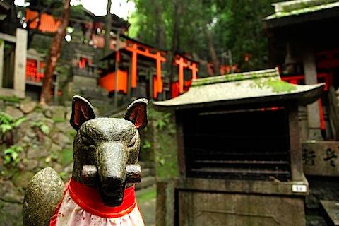 Statue at Fushimi Inari Shrine