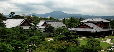 Nijo Castle with Kyoto Skyline