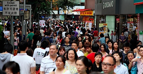 People in Causeway Bay