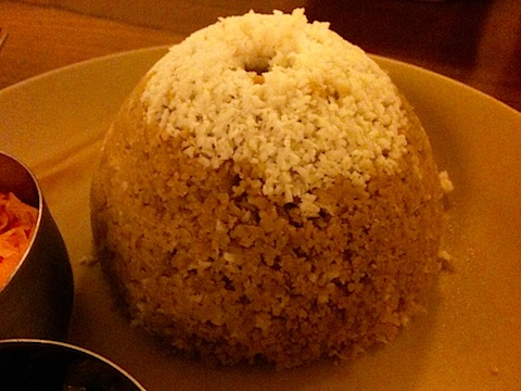 Puttu (Steamed wheat flour)