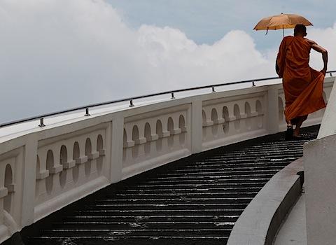Monk at Golden Mount