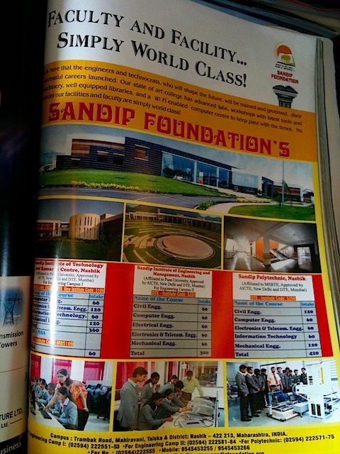 Education Ad in Jet Airways Magazine
