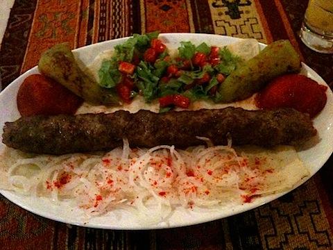 Ground Lamb Shish Kebab