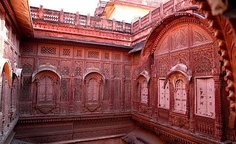 Stone carvings at Mehrangarh