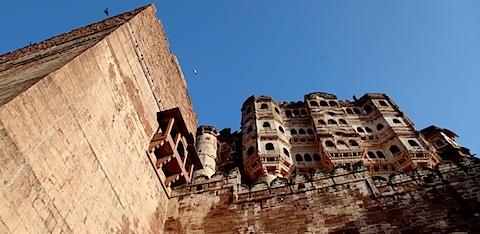 Steep walls of Mehrangarh
