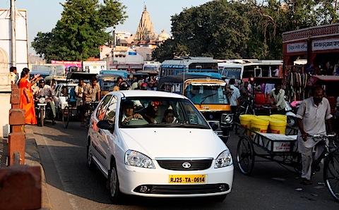 Horrible traffic in Badi Chaupar