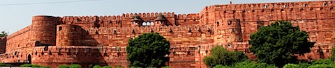 Wall of Agra Fort