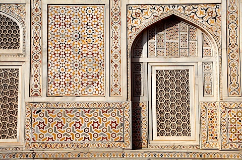 Details at Itmad-Ud-Daulah (Baby Taj)