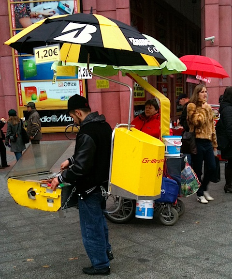 Portable Sausage Vendor in Alexanderplatz