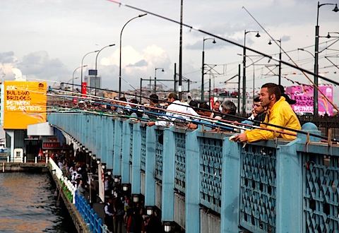 Men Fishing on Galata Bridge