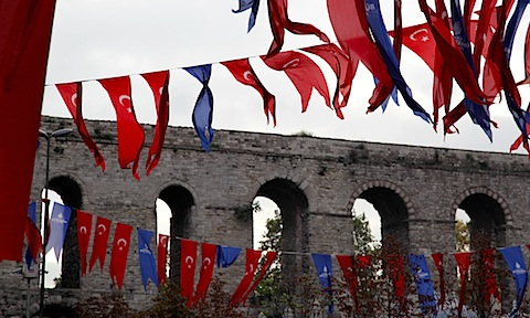 Flags and Kirik Aqueduct