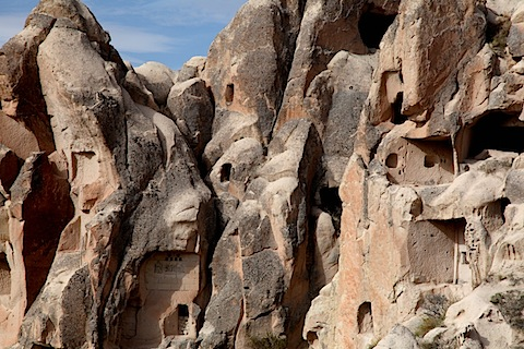 Cave Dwellings Near Goreme Open-Air Museum