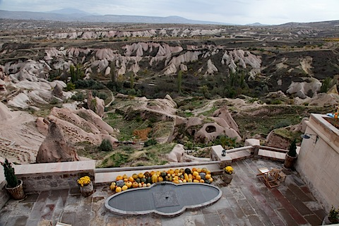 View from Cafe at Argos In Cappadocia