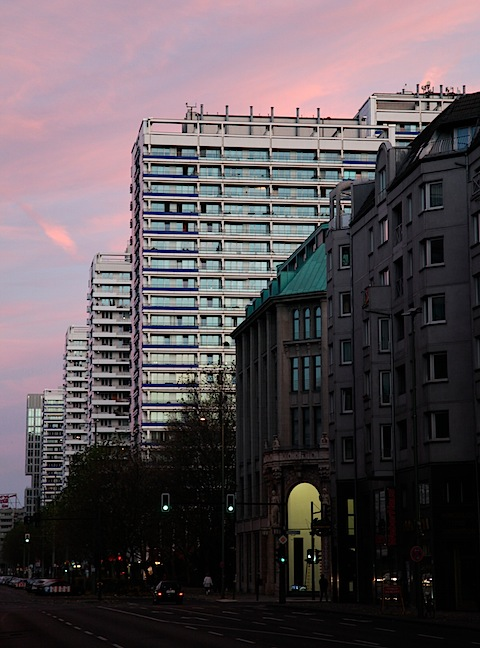 Sunset on Leipzigerstrasse