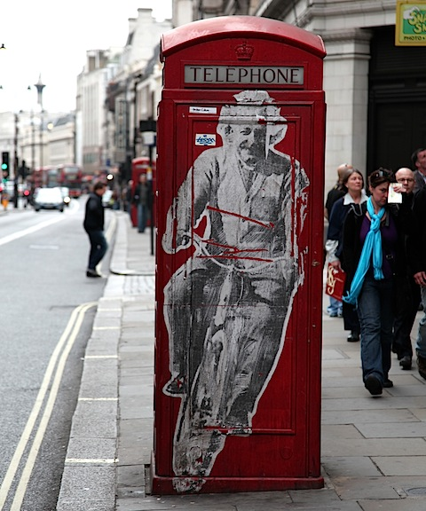 Einstein on Bike Street Art