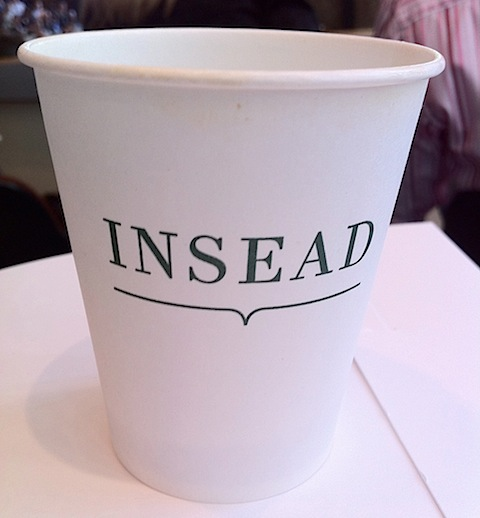 INSEAD coffee cup