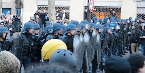 Riot cops @ Place de Nation, Paris, France