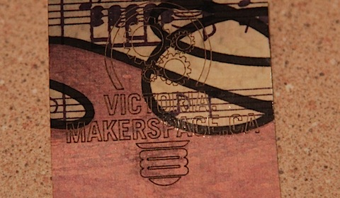 Victoria Makerspace Laser-Cut Bookmarks
