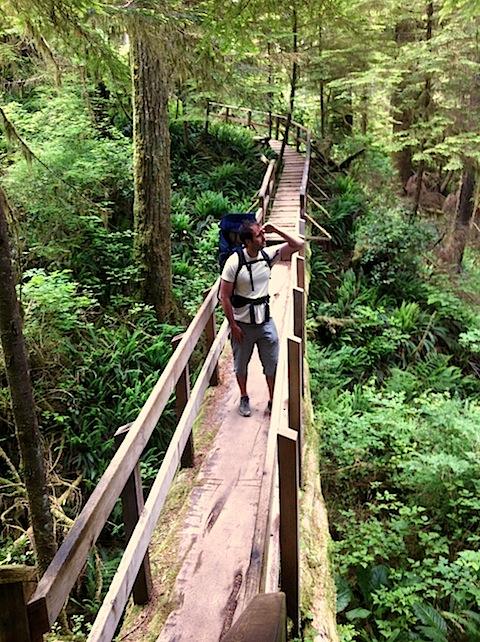 Me on Bridge at Rainforest Trail