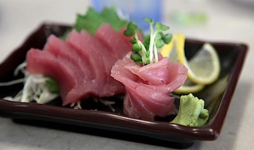 Ahi Sashimi at Ocean Sushi