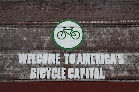 America's Bicycle Capital Sign