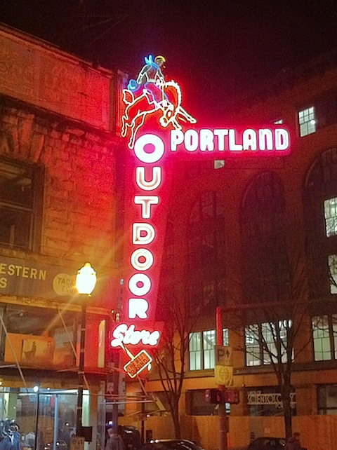 Portland Outdoors Neon Sign