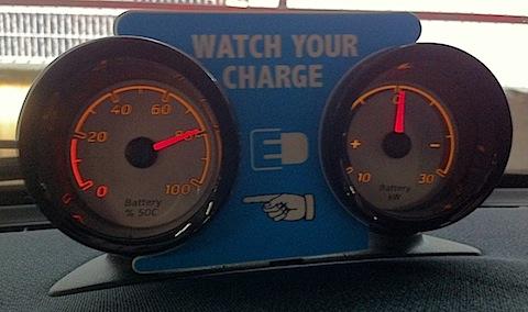 Inside electric car2go