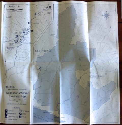 Carmanah Trail Map