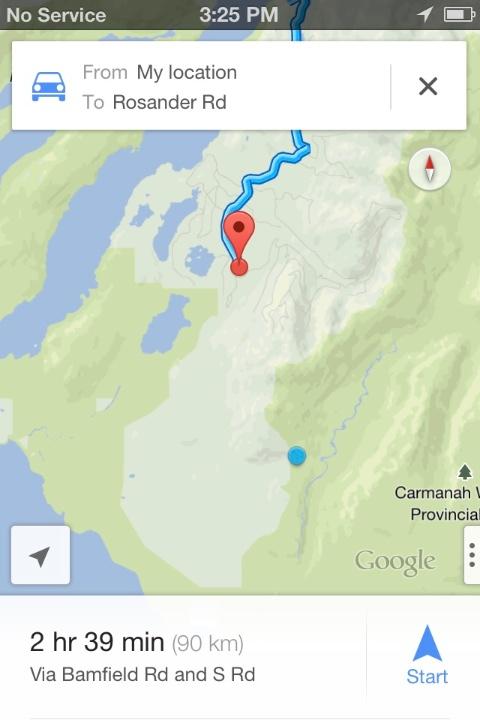Directions to Carmanah Walbarn